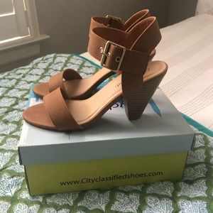 City Classified/Versona Brown Heels - NWT!